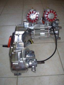 Photo moteur bicylindre réaliser avec mes encien carter