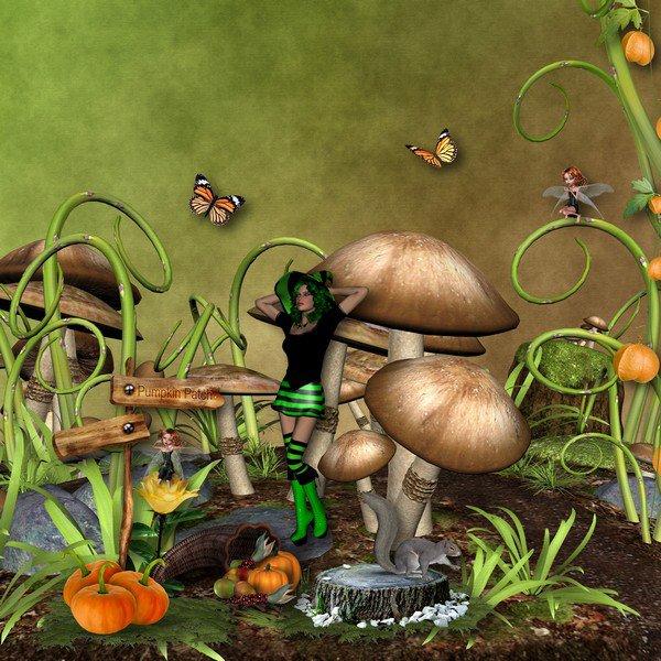 SCRAPER'S DELIGHT : autumn magic