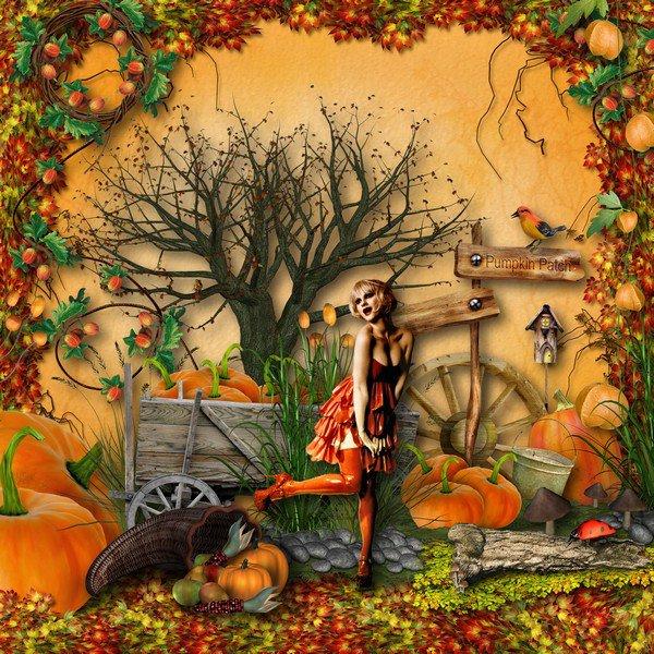 SCRAPER's DELIGHT : autumn fairy