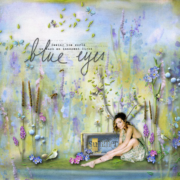 LILY DESIGN : blue medow