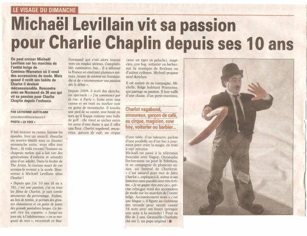Charlie Chaplin dans la presse !