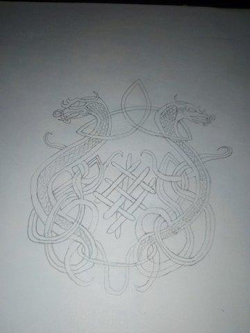 dragon et celtique
