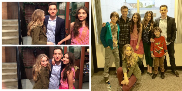 Sabrina sur le set de l'épisode 2x01 de GMW le 10 novembre