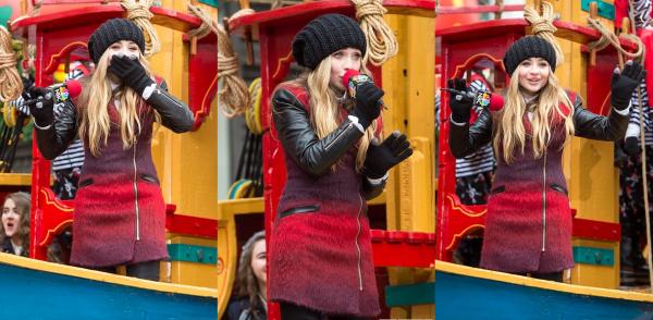 Sabrina au Macy's Thanksgiving Day Parade 2014
