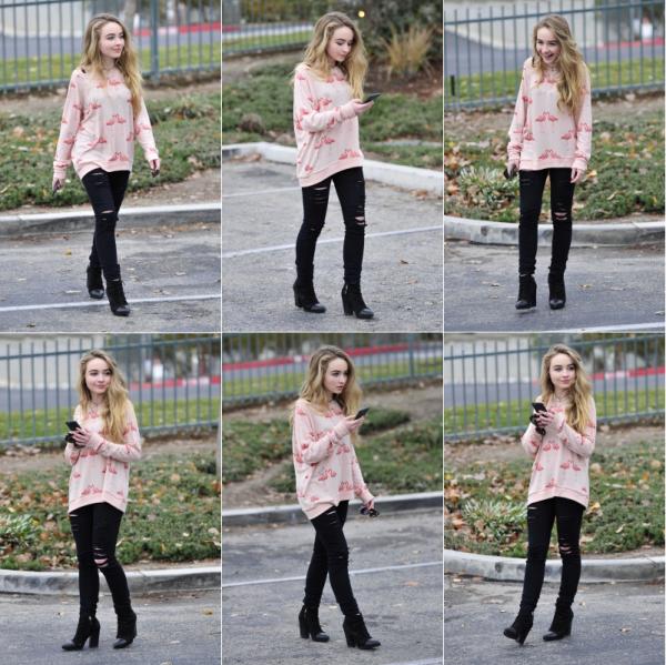Sabrina a été aperçu le 12 janvier allant dans un studio à Burbank