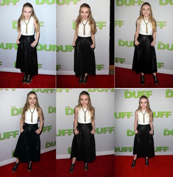 Sabrina était présente à l'avant première de The DUFF le 12 février