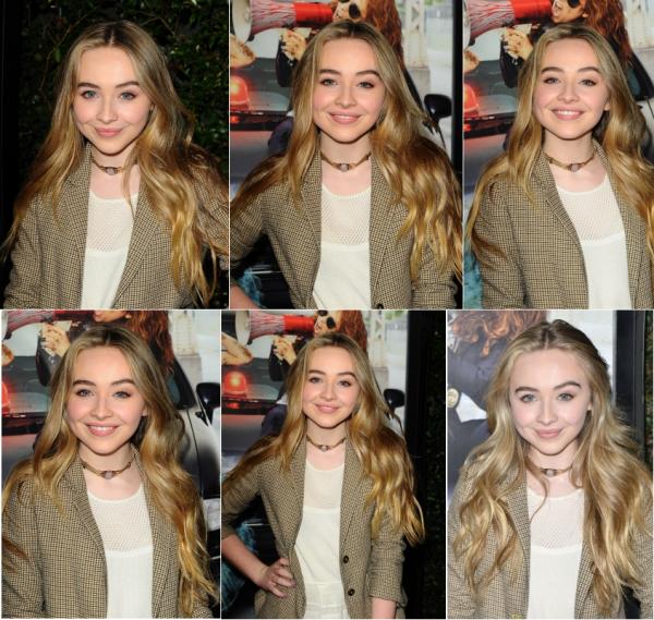 Sabrina à la première Bad Hair Day le 13 février
