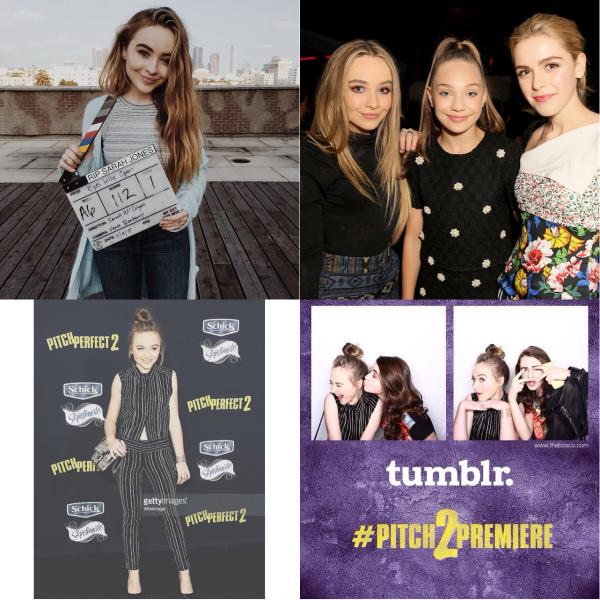 Sabrina à l'avant première de Pitch Perfect 2 le 8 mai 2015