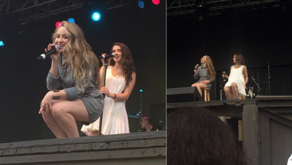 Sabrina le 16 mai dans le parc d'attraction Six Flags