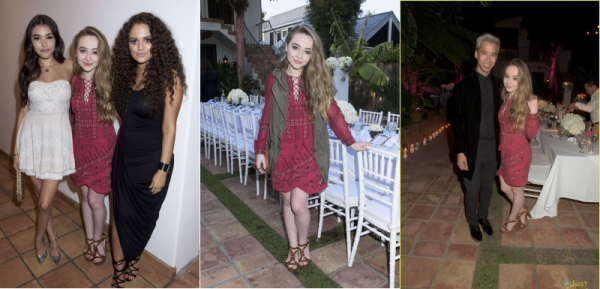 Le 8 juillet Sabrina était à la Just Jared Dinner party à Malibu