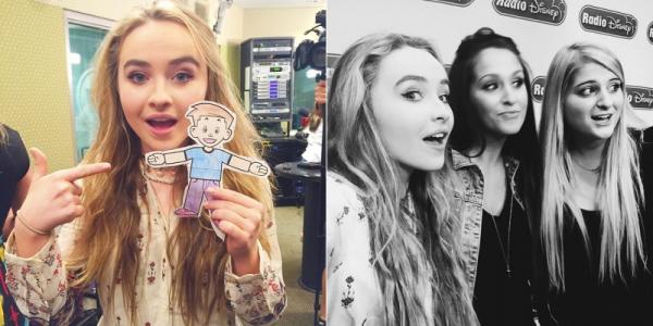Le 24 septembre Sabrina était à Radio Diney avec Meghan Trainor