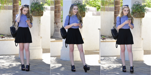 Le 5 Octobre Sabrina a été aperçu arrivant à Hollywood Records