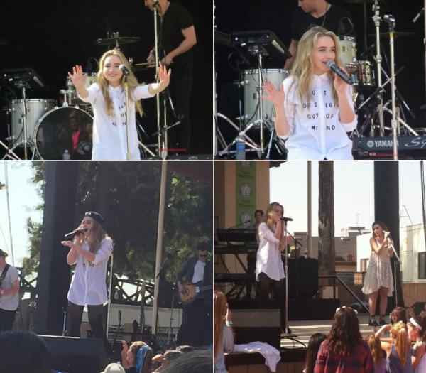Le 17 octobre Sabrina donnait un concert à Fresno, Californie