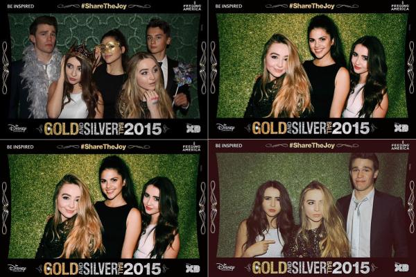 le 14 Novembre Sabrina était au Disney's 2015 Gold & Silver Ball