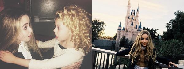 Sabrina à Disneyland avec sa soeur et des fans
