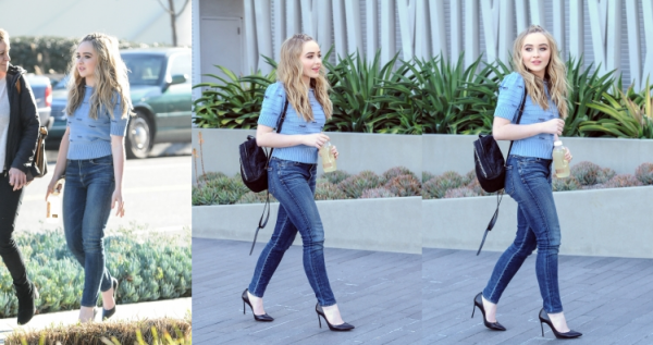Sabrina dans les rues de Los Angeles le 19/02