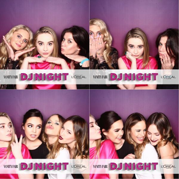 Le 26 février Sabrina était présente au Vanity Fair and L'Oréal Paris DJ Night