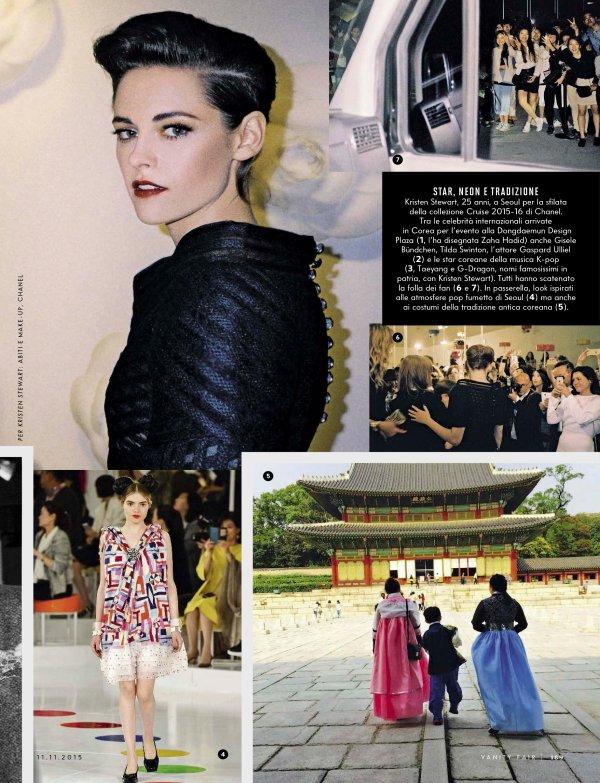 -- Découvrez des photos de Kristen dans le magazine Vanity Fair Italie et de Chanel ! --