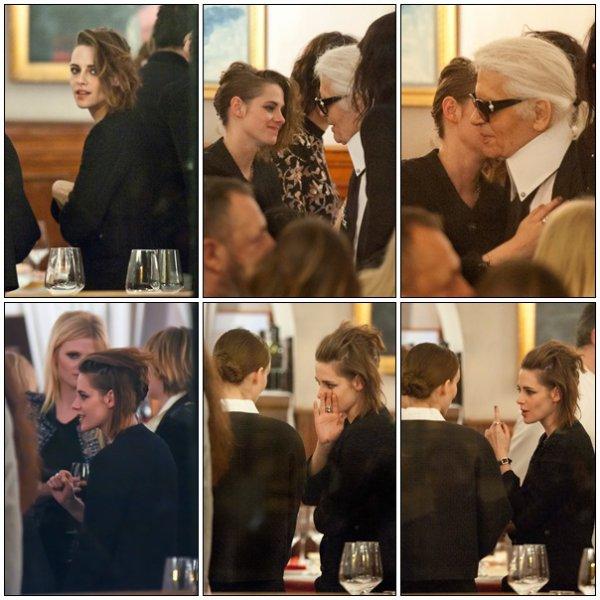 -- Le 30 novembre: Kristen S. était présente hier au dîner Chanel qui se déroulait à Rome.  --