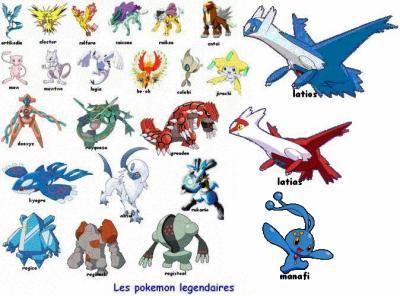 Image des pokemon legendaires pokemon ultime - Pokemon x et y legendaire ...