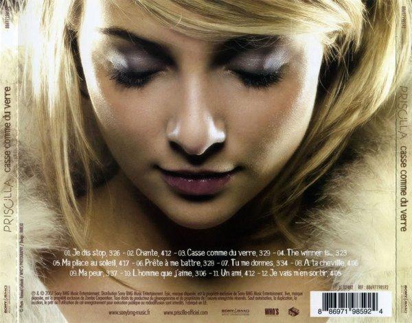Anniversaire de la sortie du cinquième album de Priscilla : Casse comme du verre (10/12/2007)