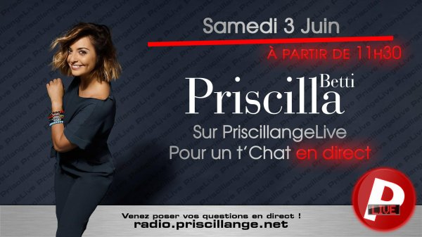 Attention l'heure du live sur Priscillange a changée
