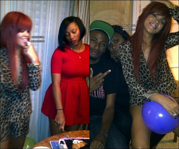 .   Des photos de Rihanna fêtant l'anniversaire de sa meilleure amie Melissa viennent d'apparaître!  .