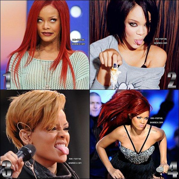 .  Parmi les grimaces ci-dessous de Rihanna, laquelle prefères-tu?  .
