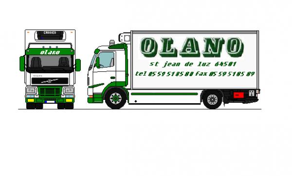 Volvo fh 12 porteur olano dessin blog de traxx64 - Dessiner un bus ...