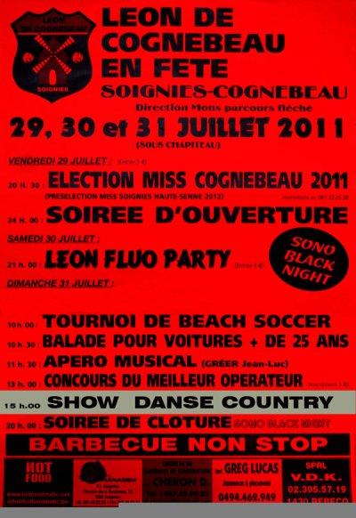 Démonstration a Soignies le 31 juillet avec trois club de danse