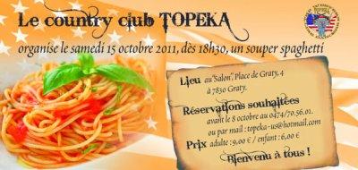 Samedi 15 octobre le club topeka organise son souper spaghetti