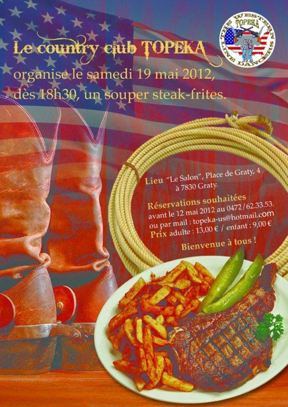 Notre souper steack frites annuel est programmé au 19 mai, bienvenu à tous