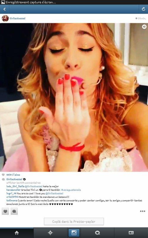 Vilu a posté sa sur instagram il ya 20 min c'est une vidéo mais j'ai fais des captures d'écran