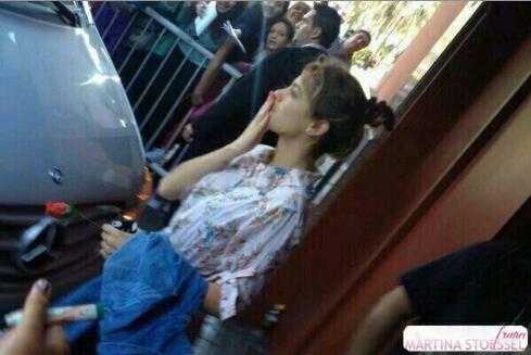 Tini en arrivant a Luna Park ! ♥♥