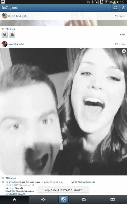 Valeria a posté une video je mets des morceaux regarde !♥♥