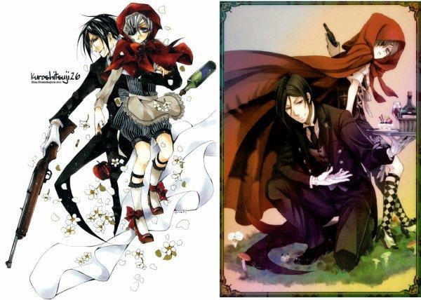Le monde de Kuroshitsuji à décidé de ce mettre au chaperon rouge  x3