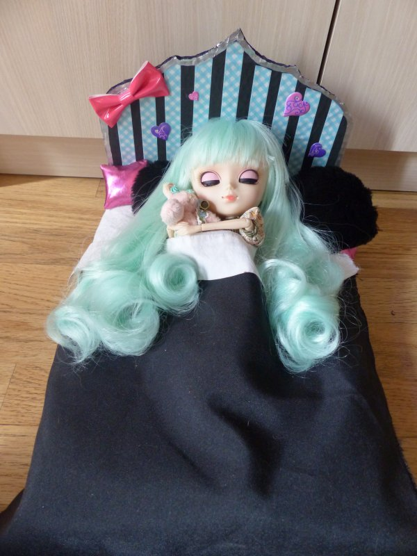 Le lit de Sweety :3 ( Entièrement fait mains )
