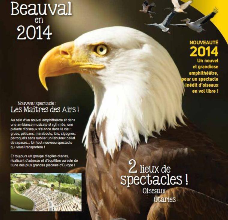NOUVEAUTES 2014 : Nouveau spectacle d'oiseaux & restaurant