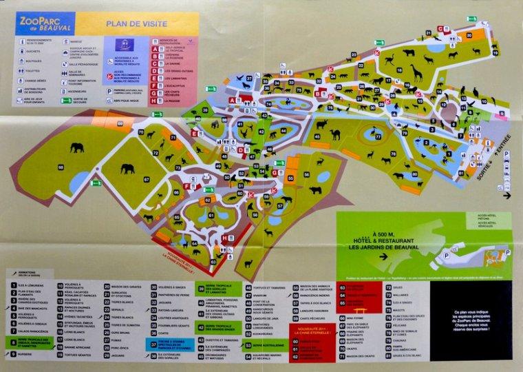 plan du zoo au fil des années ...