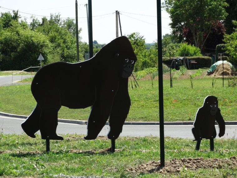 rond point avec des animaux de Beauval