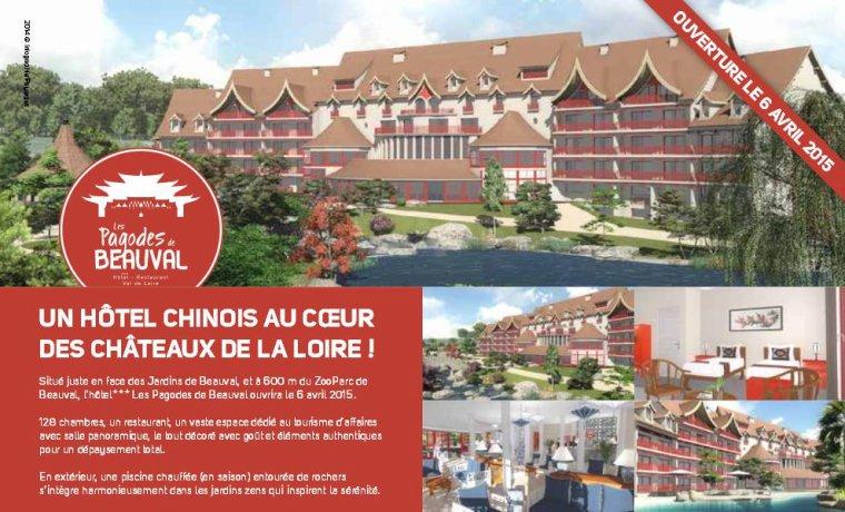 Nouvel h tel les pagodes de beauval ouverture le 6 for Hotels de beauval