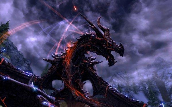 SKYRIM  les dragons
