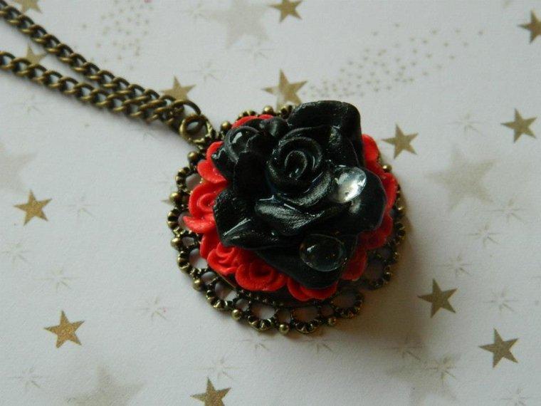 Pendentif Gothique perle de rosée