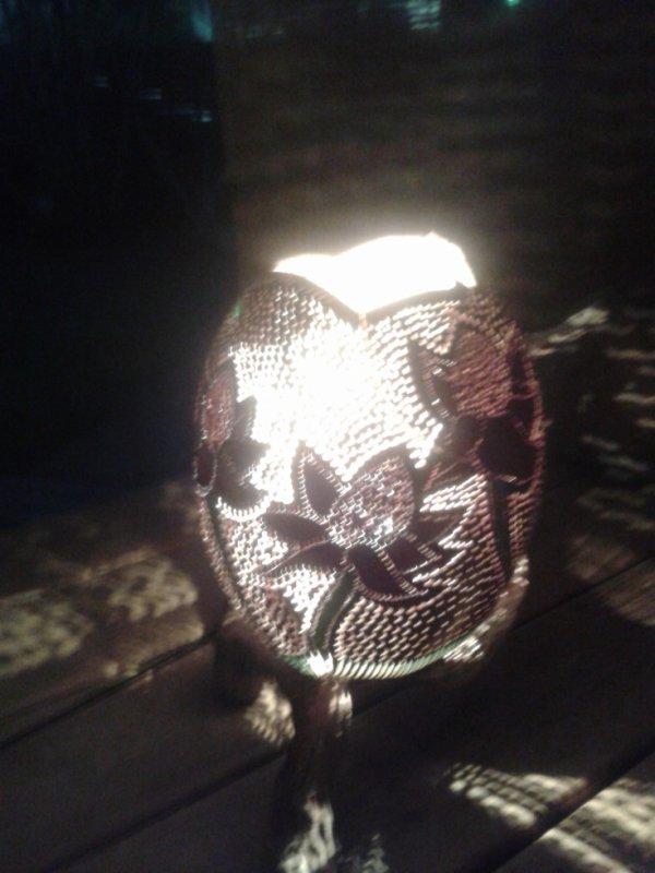 lampe roses porcelaine couleur 200.00¤