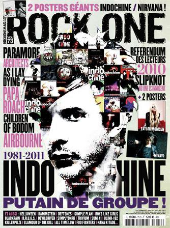 Indochine sur la couverture Rock One