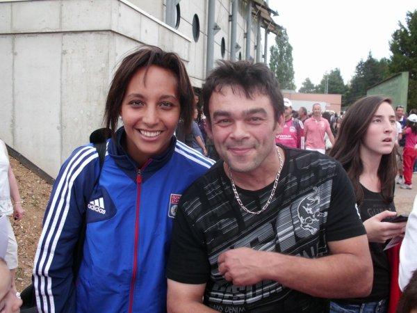 Sarah Bouhaddi la gardienne de L'OL et de l'équipe de France féminine