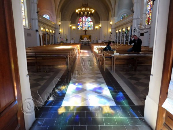 589 - Visite de l'église St Amé en compagnie de charmantes personnes -