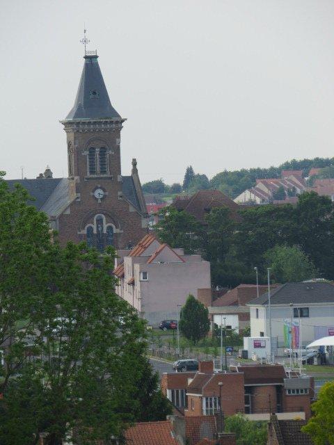 607 - Vue sur l'église de St  Amé-