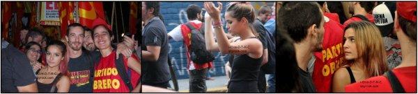 Brenda était au Brésil ; De fin mars à debut avril