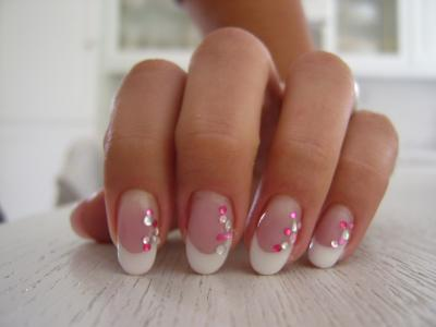 Amande strass gel mask et clear d onglerie ma passion ma d tente ma cr ation mon - Ongle en gel amande ...